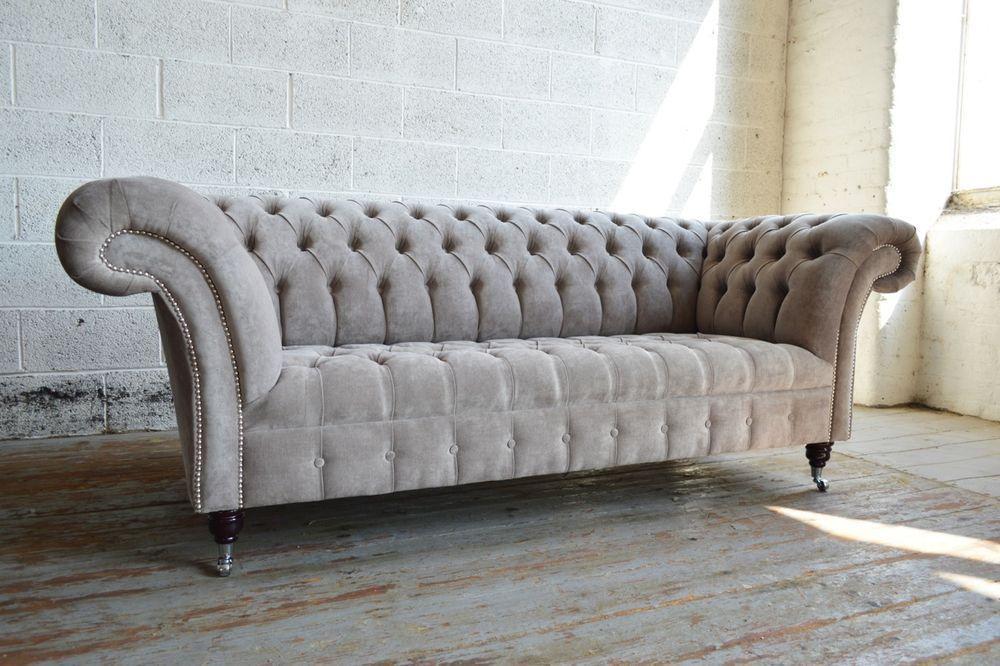 Диван Chesterfields Windsor 195 см Light Grey Amaretto