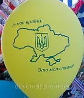 Воздушный шарик, карта Украины