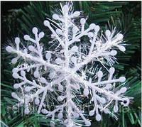 Снежинка новогодняя, наклейка 18 см. 3 шт.в упаковке, фото 1