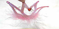 Обруч корона розовая