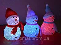 Снеговик светящийся - новогоднее украшение 7*17см, фото 1