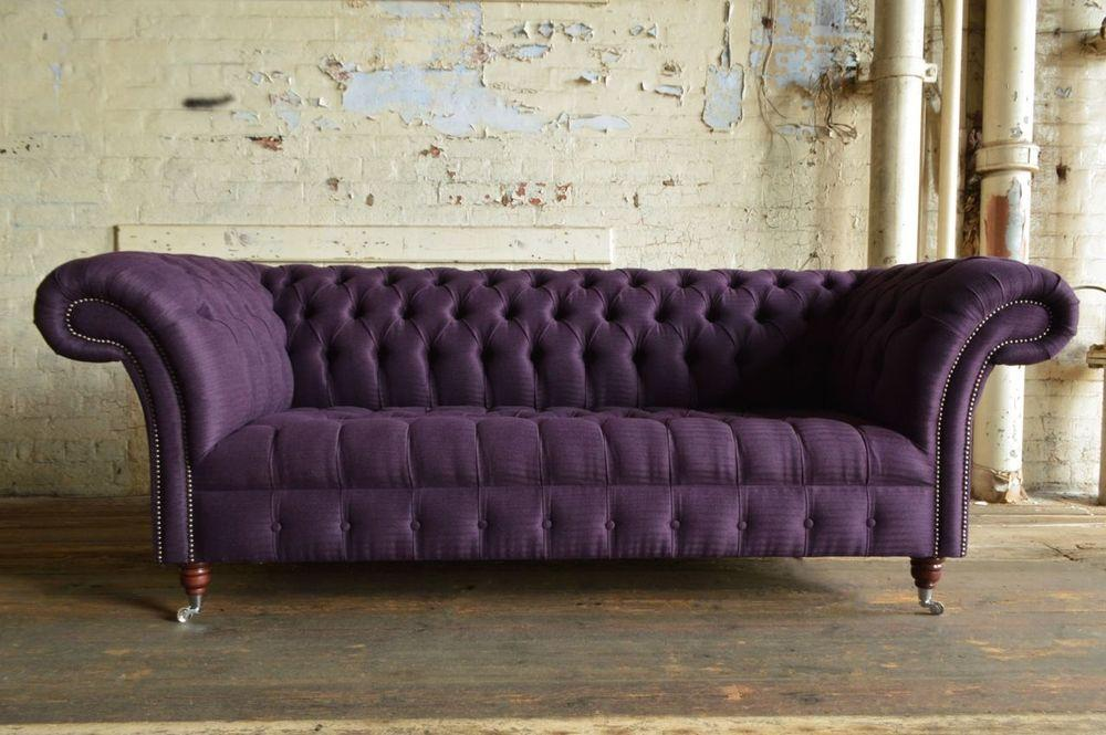 Диван Chesterfields Windsor 345 см Amaretto 5210 Violet