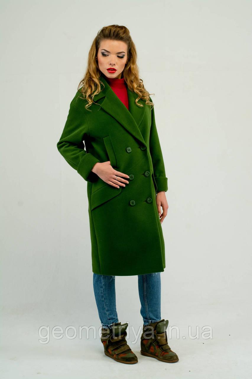66cf98e1aef Демисезонное женское кашемировое пальто зеленого цвета  продажа ...
