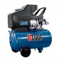 Компрессор Utool UAC-24 (2 кВт, 220 л/мин, ресивер 24 л)