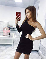 Короткое платье с одним рукавом
