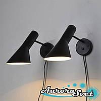 Бра настенная AuroraSvet loft 10400 чёрная.LED светильник бра. Светодиодный светильник бра.