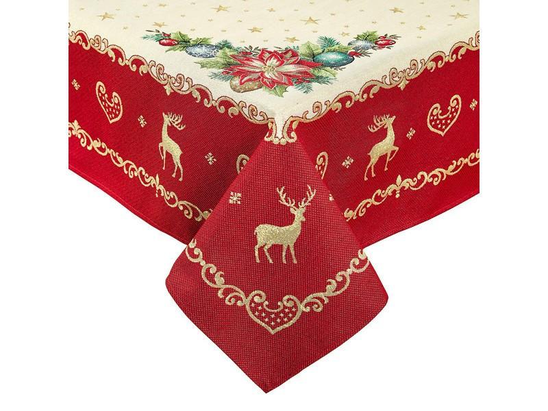 Скатерть новогодняя гобеленовая 300 х 137 см