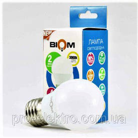 Светодиодная лампа BIOM smd BT-563 7W, G45, E27 Тёплый Белый