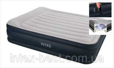 Надувные кровати  Intex 67738 (152 х 203 х 43 см.) с встроенным насосом, фото 2