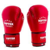 Боксерские перчатки TopTen, DX, 8oz,10oz,12oz, красный