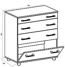 Комод для вещей с 3-мя ящиками и одной дверцей К-2, фото 3