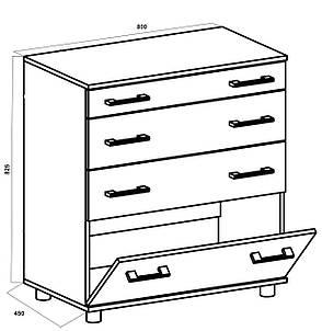 Комод для вещей с 3-мя ящиками и одной дверцей К-2, фото 2