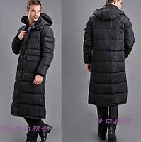 Длинная куртка парка зимняя мужская ниже колен.