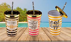 Cocktail glass, 3 вида ( Стакан коктейльный )