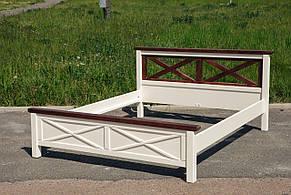 Кровать Нормандия (Ваниль + Темный Орех) (Сосна), фото 2