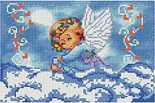 "СФ 194 Набор  алмазной мозаики 20х30 ""Ангелик на хмаринці"""