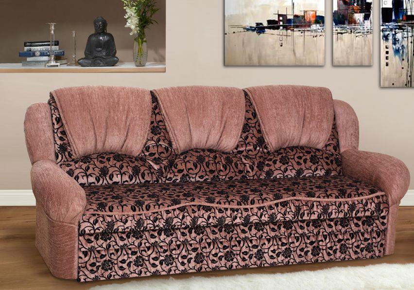 Прямой диван Sky Soft Стелла 245 см Розово-черный