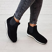 Ботинки из натуральной замши черный, фото 1