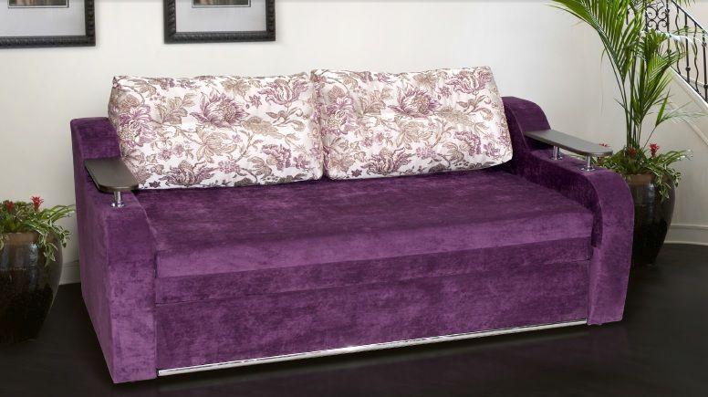 Прямой диван Sky Soft Кубус 160 см Фиолетовый