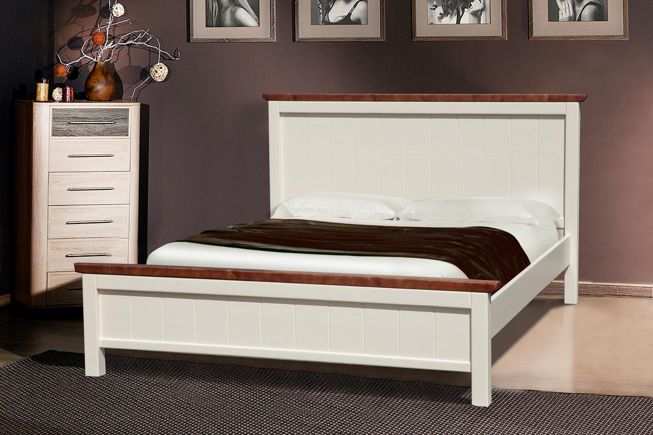 Кровать Беатрис (Ваниль + Темный Орех)