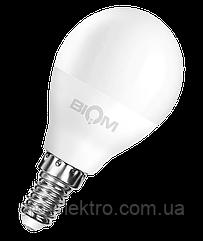Светодиодная лампа BIOM smd BT-545 4W, G45, E14 Тёплый Белый