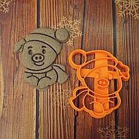 Новорічна свинка в шапці  - Форма для печива і пряників