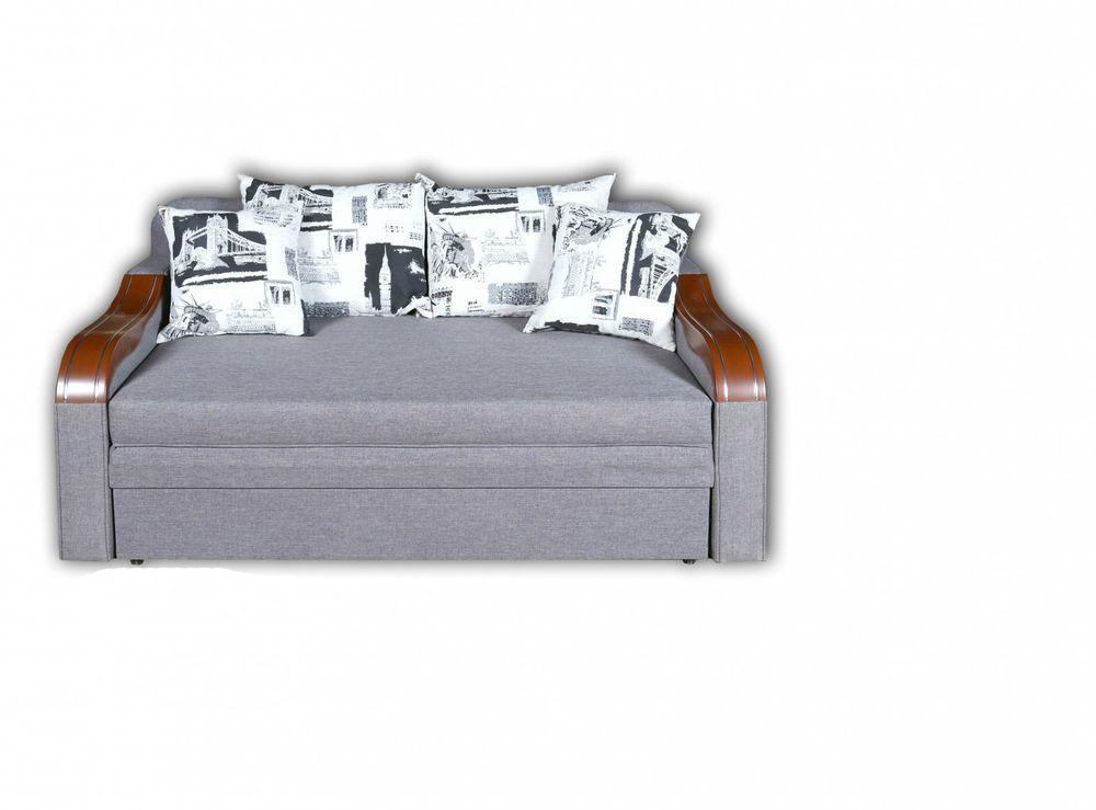 Прямий диван КМК Афіна Сірий