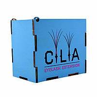 LashBox Для Ресниц Cilia [BLUE] (Лэшбокс С 5 Планшетками), фото 1
