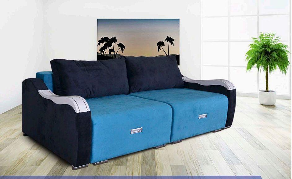 Прямой диван Спарта Дионис Синий