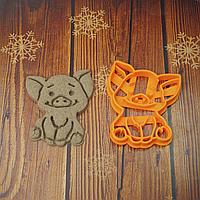 Щаслива свинка  - Форма для печива і пряників