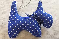 """Іграшка новорічна сувенірна з підвіскою """"Собачка"""" ручної роботи"""