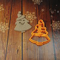 Новорічна ялинка в шапці  - Форма для печива і пряників