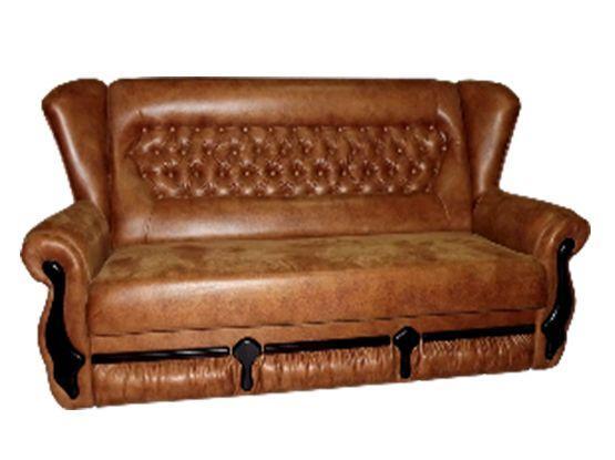 Прямий диван МКС Фараон 1.4 розкладний Коричневий