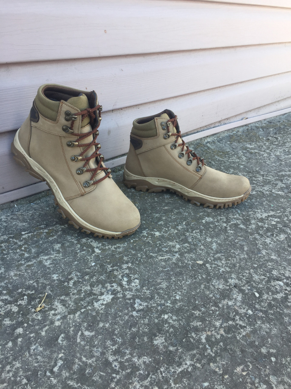 Ботинки Техно кожа нубук бежевые
