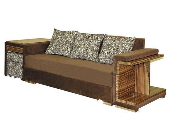 Прямий диван Даліо Бугатті Коричневий