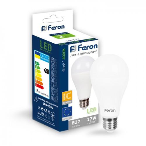 Светодиодная лампа А65 Е27 17W Feron LB-717 4000K (Нейтральный)