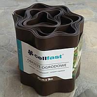 Газонный бордюр Cellfast 15см x 9м коричневый 30-012