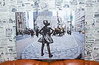 """Фото на холсте """"Нью-Йорк. США. Бесстрашная девочка"""". 50х80 см."""