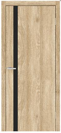 Двери межкомнатные СИТИ Черное ЧС NL Зеркало, фото 2