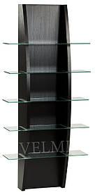 Витрина для парикмахерской VM609 ДСП Swisspan Дуб Венге (Velmi TM)