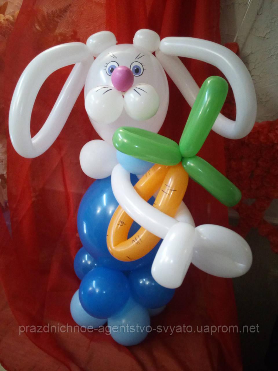 Фигура зайчик из шаров