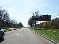 Аренда рекламного щита  6x3, г. Киев, Бориспольская трасса, напрот.груз.терминала (аллея в  Аэропорт, справа)