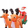 Надувные фигуры Санта + Олени