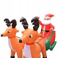 Надувные фигуры Санта + Олени, фото 1