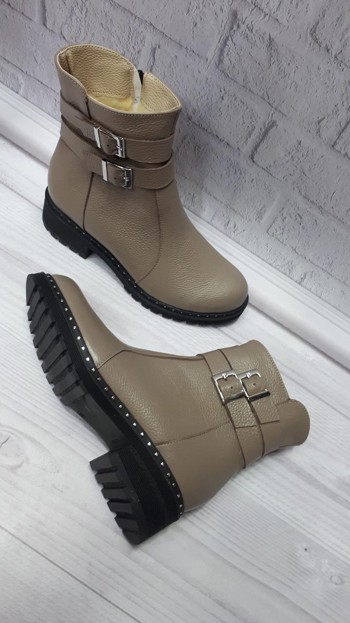 2315f03c Женские кожаные зимние бежевые ботинки. Украина: продажа, цена в ...