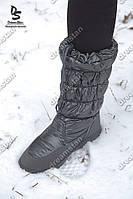 Женские дутики зимние серые ( Код : А-2)