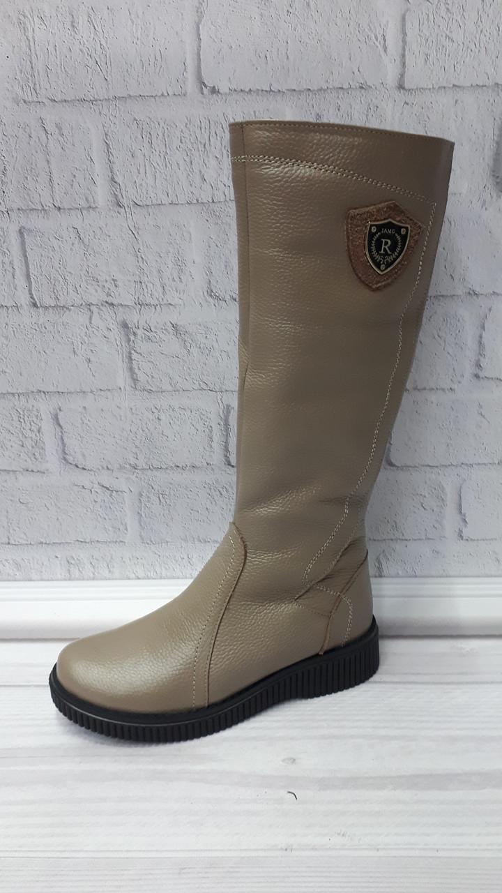 6bb429c8 Женские зимние кожаные бежевые сапоги. Украина: продажа, цена в ...