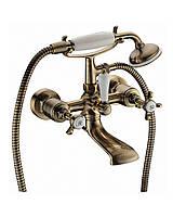 Двухвентильный смеситель для ванны Imprese Cuthna antiqua (10280), бронза