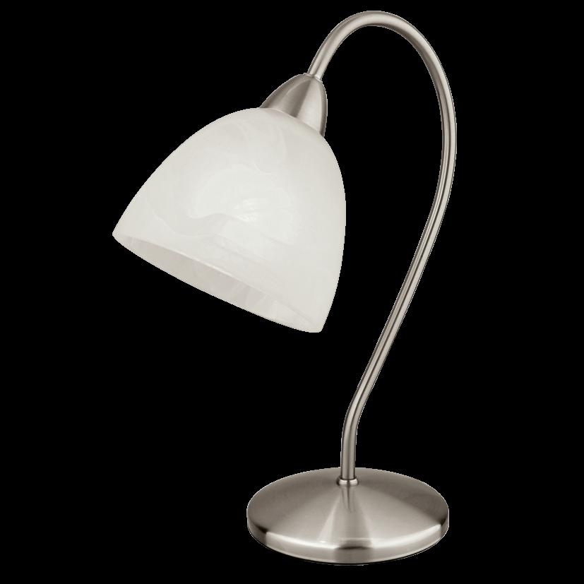 Настольная лампа EGLO 89893 Dionis 1х40Вт Е14 никель-мат./белый