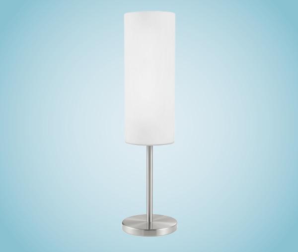 Настольная лампа 85981 EGLO Troy 3 1х60Вт Е27 опал/никель-мат.